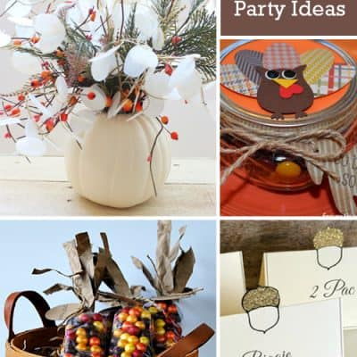Thanksgiving DIY Fall Party Ideas