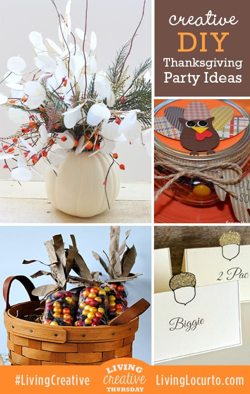DIY Thanksgiving Fall Party Ideas! Share your creative ideas for Living Creative Thursday at LivingLocurto.com