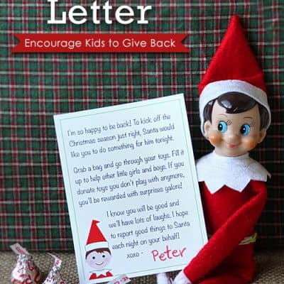 Elf on the Shelf Printable Arrival Letter from the North Pole.