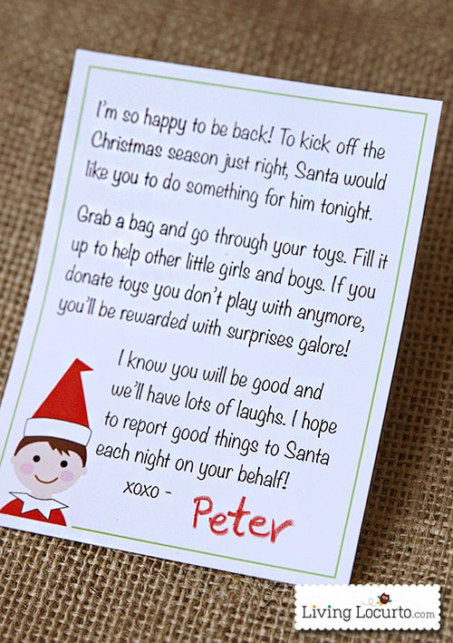 Printable Elf Arrival Letter. A special note from the North Pole that ...