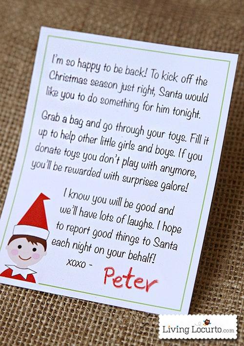 Elf On The Shelf Welcome Back Letter elf printable arrival letter