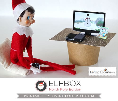 Christmas Elf on the Shelf with Tiny xBox and Minecraft Game Printables. So cute! LivingLocurto.com