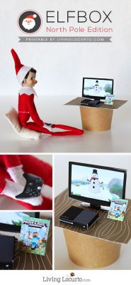 Christmas Elf on the Shelf XBox and Minecraft Game Printables
