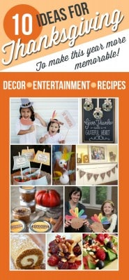 10 Thanksgiving DIY Ideas, Recipes, Printables and Kids Crafts!