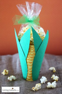 Thanksgiving Popcorn Corn Snack Craft for Kids
