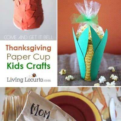 Easy Thanksgiving Kids Crafts with Paper Cups