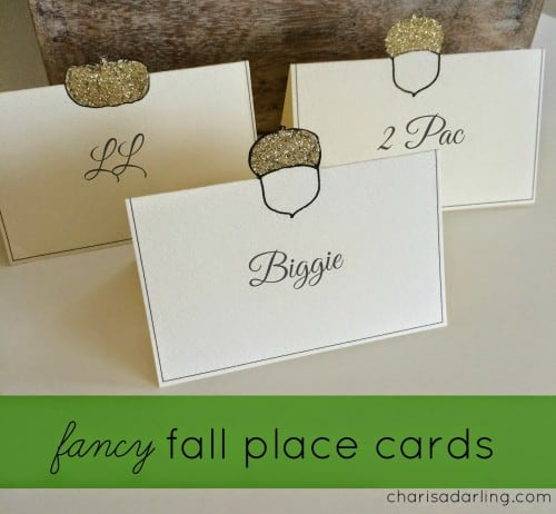 fall Thanksgiving place cards from CharisaDarling.com