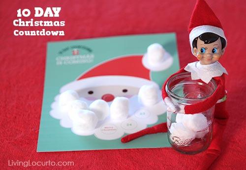 10 Day Santa Christmas Countdown Free Printable. LivingLocurto.com