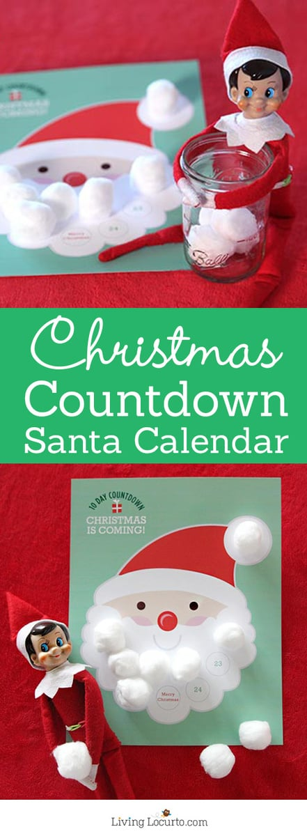 graphic regarding Christmas Countdown Printable named 10 Working day Xmas Countdown No cost Printable Calendar