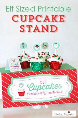 Christmas Elf Printable Cupcake Stand