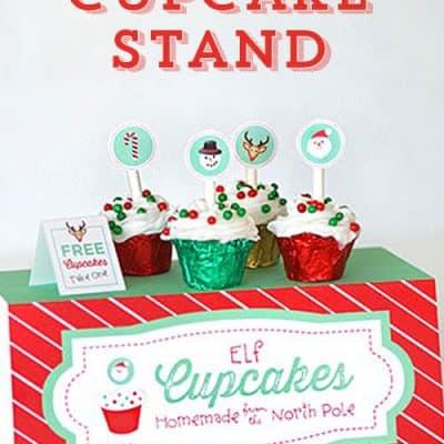 Elf Cupcake Stand Printables
