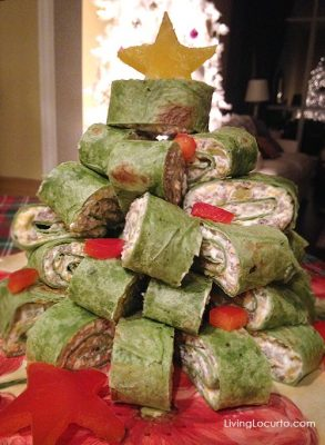 Christmas Tree Appetizer Wraps Recipe. LivingLocurto.com