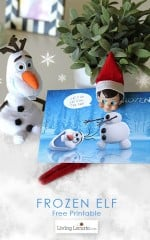 Disney Frozen Elf on the Shelf Free Printable for Christmas fun! LivingLocurto.com