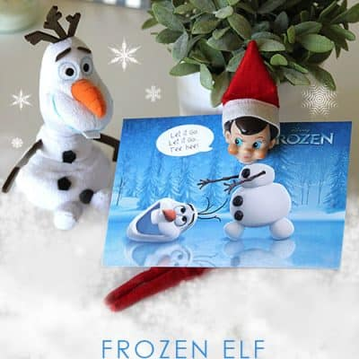Disney Frozen Elf on the Shelf Free Printable