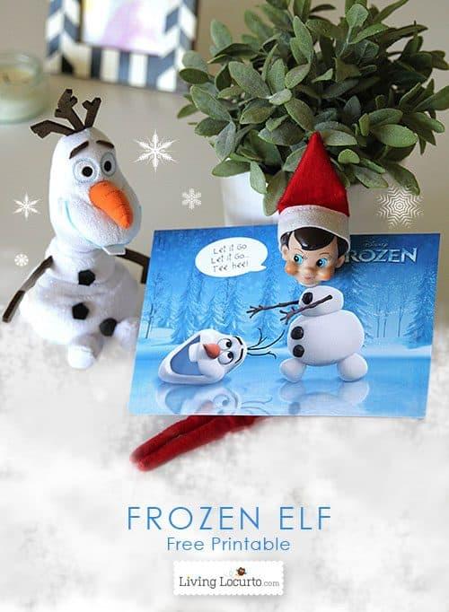 Disney Frozen Elf on the Shelf Free Printable for Christmas fun! LivingLocurto.com