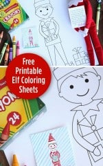 Elf on the Shelf Free Printable Coloring Sheet. Livinglocurto.com