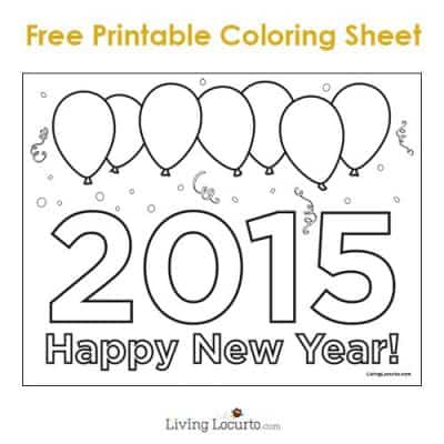 Free Printable 2015 New Year Coloring Sheet