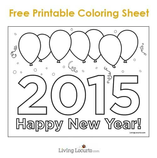 Printable Coloring Pages New Years Coloring Pages