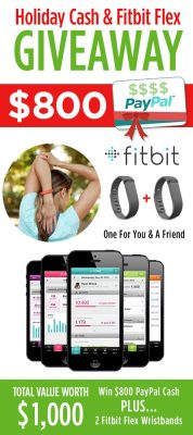 Holiday Cash & Fitbit Flex Wristband Giveaway