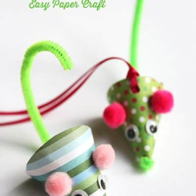 DIY Paper Mouse Christmas Ornament