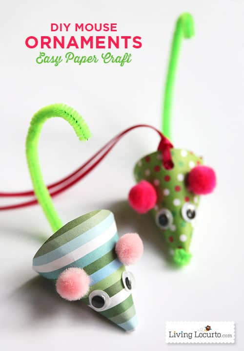 diy paper mouse christmas ornament - Mouse Decorations Christmas