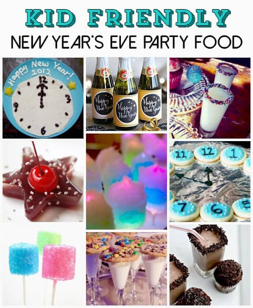 New Years Eve Party Ideas for Kids. Fun food recipe ideas for celebrating New Year's Eve. LivingLocurto.com