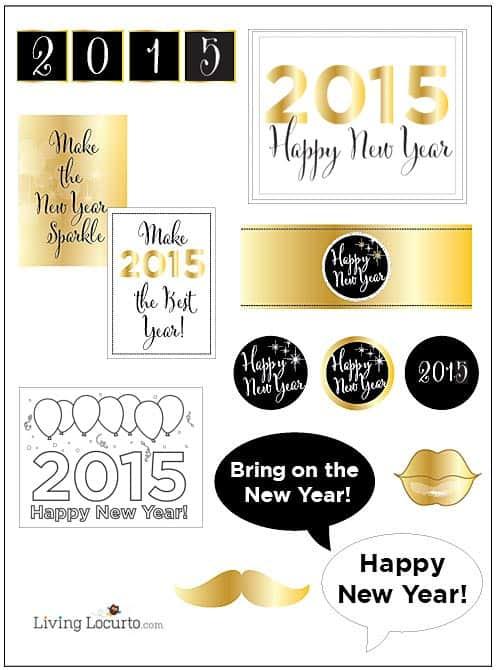 Free Printable 2015 New Year Coloring Sheet