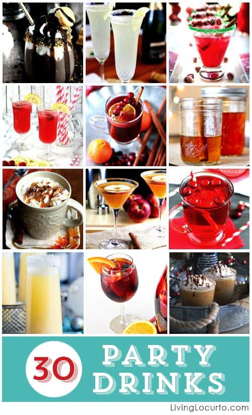 30 amazing party cocktails drink recipes for Hosting a christmas cocktail party