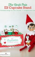 Elf on the Shelf Cupcake Stand Printables. LivingLocurto.com