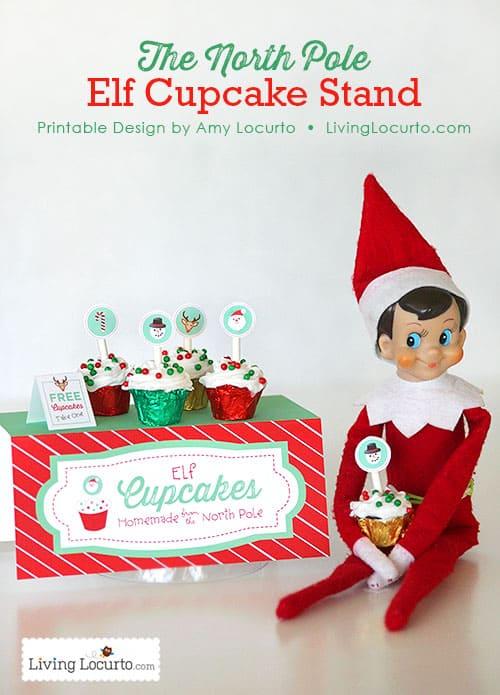 elf on the shelf cupcake stand printables livinglocurtocom