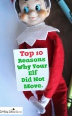 Top 10 Reasons Why Your Elf on the Shelf Did Not Move. List for Kids to Read! LivingLocurto.com