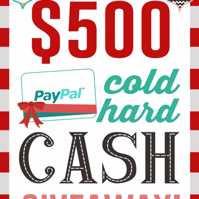 $500 Cold Hard Cash Giveaway
