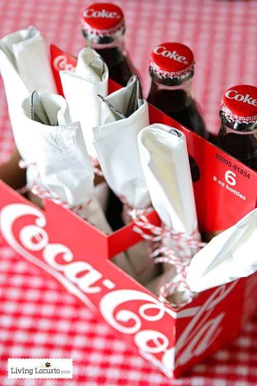 Cherry Coke Float Cupcakes and Coca Cola Party Ideas. LivingLocurto.com