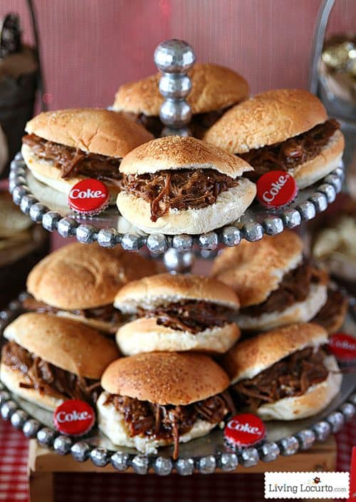 Slow Cooker Coke Beef Brisket Sliders Recipe. So easy and delicious ...