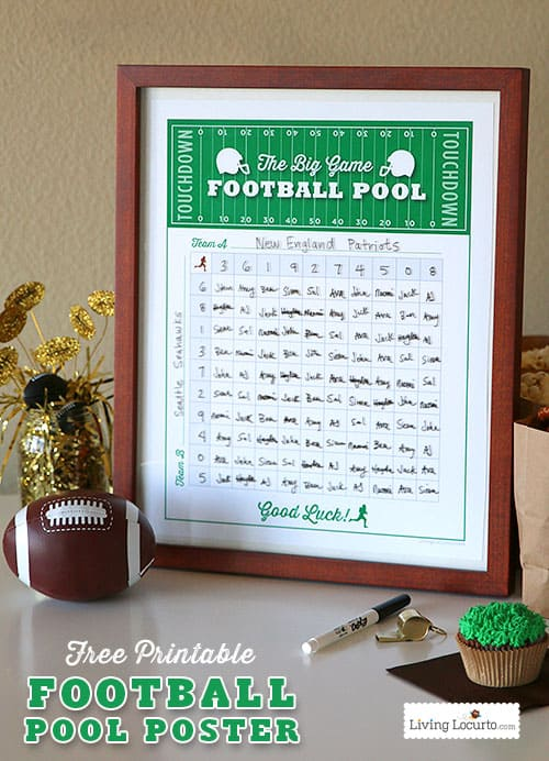 image about Football Squares Printable named Soccer Squares Template - Totally free Printable Get together Video game
