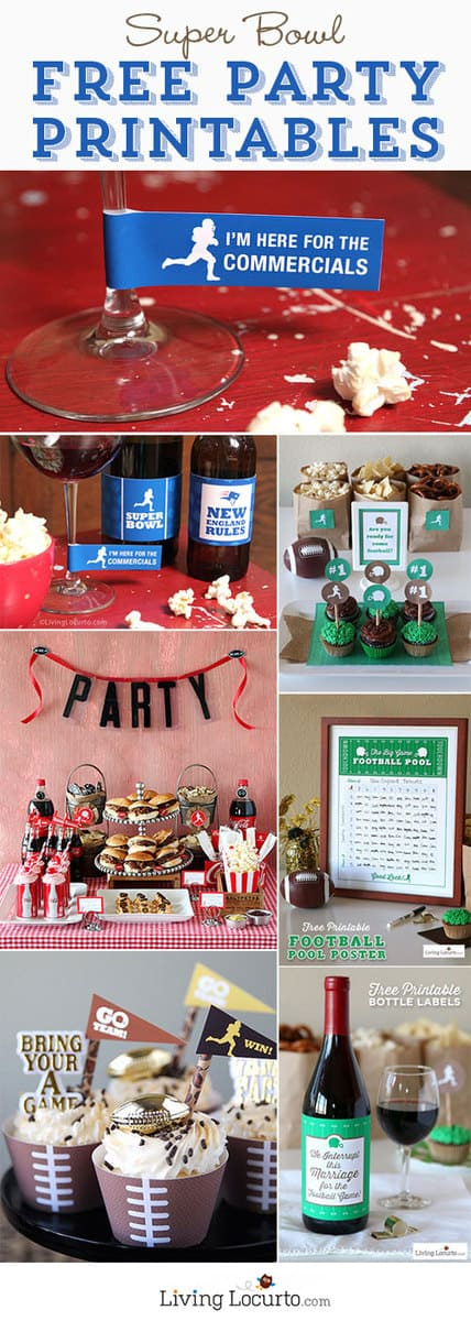 Super Bowl Free Party Printables