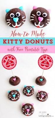 Kitty Cat Donut Treats for your Purrfect Valentine