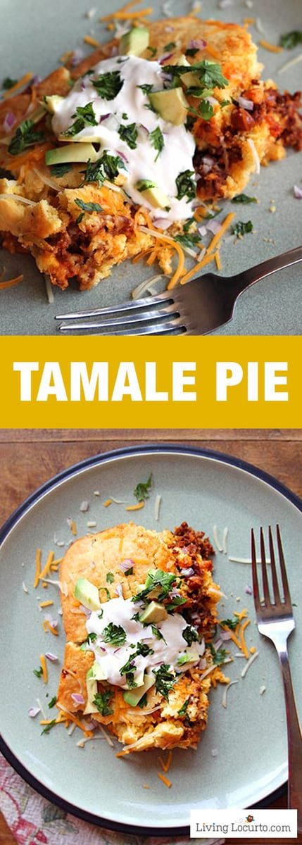This delicious Tamale Pie is a simple to make homemade Mexican casserole recipe.
