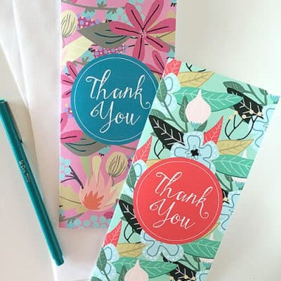 Beautiful Floral Thank You & Birthday Cards