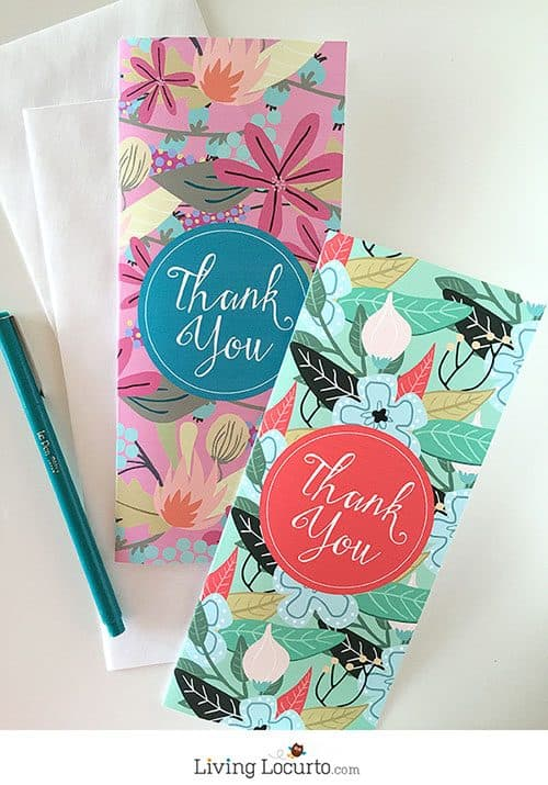 Beautiful Floral Thank You & Birthday Cards. Exclusive printables at LivingLocurto.com