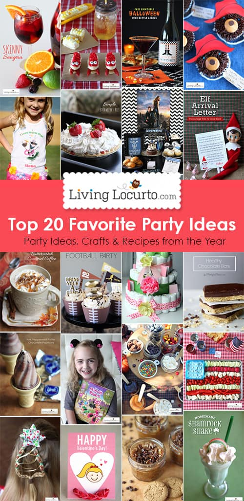 Top 20 DIY Party Ideas, Crafts and Recipes. LivingLocurto.com
