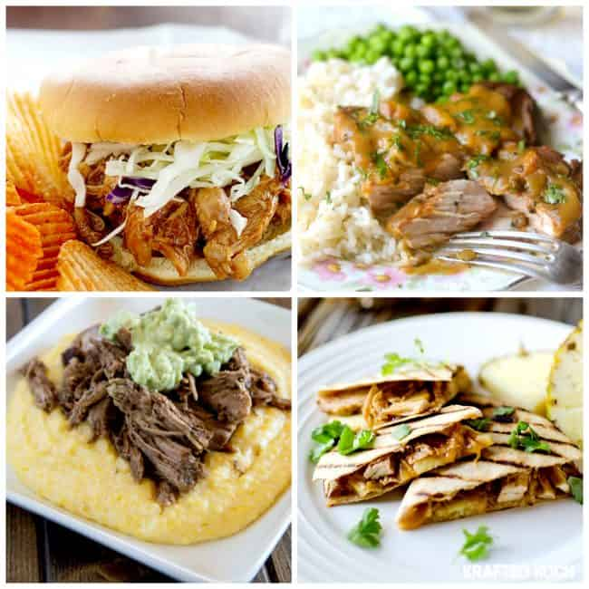 60 Delicious Crock Pot Recipes! Best slow cooker chicken recipes for dinner. LivingLocurto.com