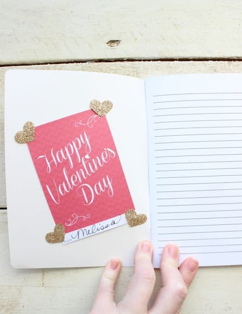 Valentine's Day DIY Gift Idea. Paper Arrow Pencils and Notebook Gift Sets. LivingLocurto.com