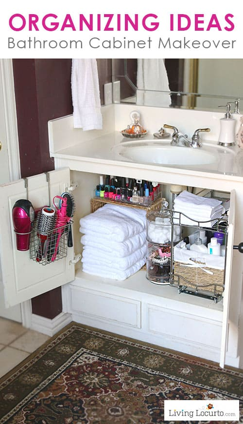 Attirant Quick Organizing Ideas For Your Bathroom! Easy Cabinet Bathroom Organization  Makeover With Before And After