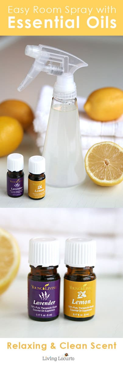 Homemade Lemon Lavender Linen Spray DIY Air Freshener Recipe