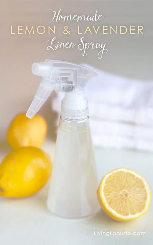 Homemade Lemon and Lavender Linen Spray - Perfect for keeping a bathroom smelling clean and fresh!