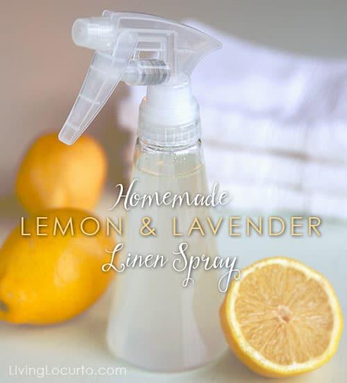 Homemade Lemon Amp Lavender Linen Spray Diy Air Freshener