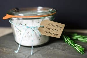 Rosemary Lavender Bath Salt with Essential Oils
