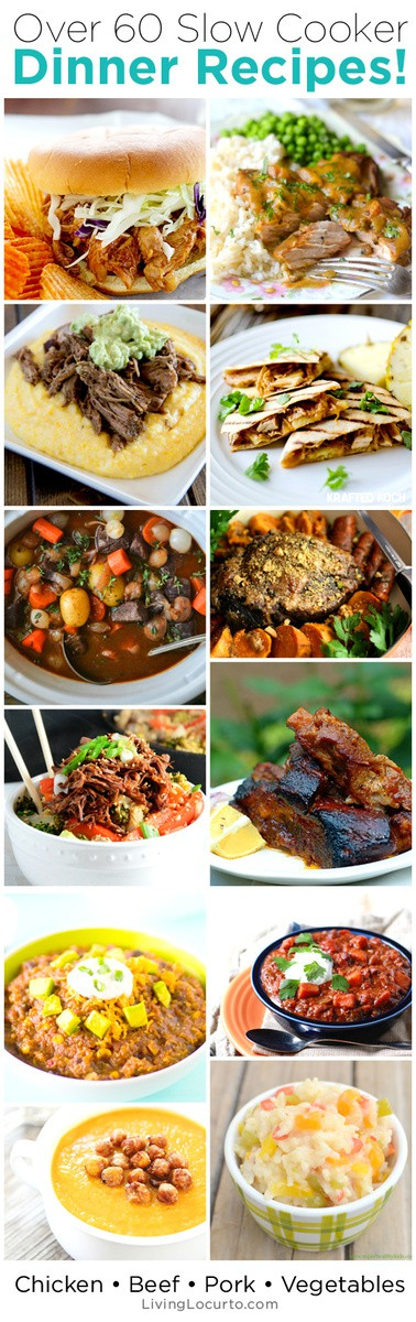 Amazing Slow Cooker Recipes for your Crock Pot! Enjoy over 60 of the best slow cooker meal ideas for dinner.