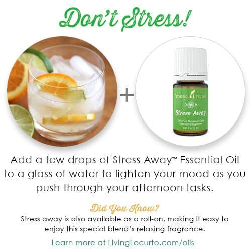 Don't stress! Essential Oils can help get you through the day. Find out more at LivingLocurto.com/oils